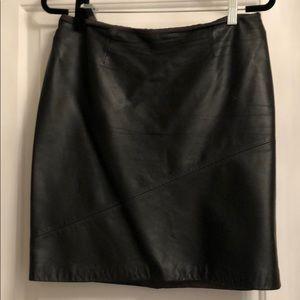 Ann Taylor Loft Real Leather Mini Skirt 12P